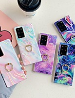 cheap -Case For Samsung Galaxy S9 / S9 Plus / S8 Plus Ring Holder / Pattern Back Cover Marble TPU