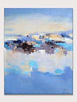 cheap -Oil Painting Hand Painted - Abstract Landscape Modern Rolled Canvas (No Frame)