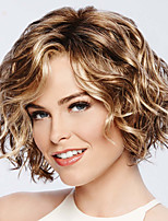 cheap -Synthetic Wig Curly Asymmetrical Wig Short Brown Synthetic Hair Women's Fashionable Design Exquisite Comfy Brown