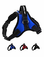 cheap -dog harness no pull pet harness adjustable outdoor pet vest 3m reflective vest harness with easy control handle and two leash attachments for small medium large dogs (large, blue)