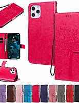 cheap -Case For Apple iPhone 12 / iPhone 12 Mini / iPhone 12 Pro Max Wallet / Card Holder / with Stand Full Body Cases Solid Colored / Animal / Tree PU Leather / TPU