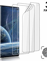 cheap -[3-pack] galaxy s10 screen protector, compatible fingerprint, self healing, anti-bubble,ultra-thin clear hd tpu protective film, for samsung galaxy s10