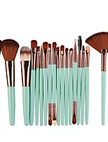 cheap -brush sets 2018 new 18 pcs makeup tools toiletry kit wool make up brush set (green)