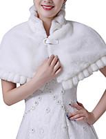 cheap -Short Sleeve Shawls Faux Fur Wedding Women's Wrap With Buckle