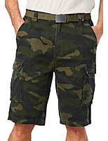 """cheap -but& #39;s big & tall 12"""" side elastic cargo short with twill belt - tall - xl, olive camo"""