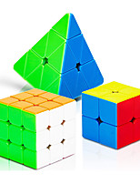 cheap -Speed Cube Set 3 pcs Magic Cube IQ Cube 2*2*2 3*3*3 Speedcubing Bundle 3D Puzzle Cube Stress Reliever Puzzle Cube Stickerless Smooth Office Desk Toys Pyramid Megaminx Skew Kid's Adults Toy Gift