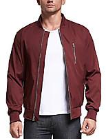 cheap -men's jacket lightweight casual flight bomber jacket spring fall coat outwear(medium,red)