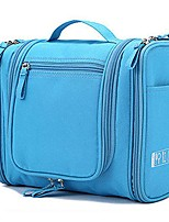 cheap -hanging toiletry bag organizer waterproof exquisite travel cosmetic bag for men and women (blue)