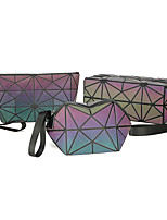 cheap -Travel Organizer Cosmetic Bag Travel Toiletry Bag Large Capacity Waterproof Travel Storage Durable Holographic PVC(PolyVinyl Chloride) For Everyday Use Cycling Portable