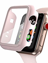 cheap -compatible apple watch series 2 / series 3 case with screen protector 42mm accessories slim guard thin bumper full coverage matte hard cover defense edge for women men new gen gps iwatch (pink)