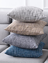 cheap -Simple Linen Sofa Pillow Case Bedside Cushion Living Room Pillow Chair Back Cushion Car Lumbar Pillow Pillowcase