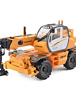 cheap -KDW 1:50 Plastic Alloy Crane Engineering Vehicle Alloy Car Model Deformation Simulation All Adults Kids Car Toys