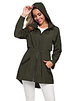 cheap -ultra lightweight raincoat women active outdoor hooded trench coats green l