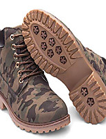 cheap -women's lace up low heel work combat boots waterproof ankle bootie mixed us size 6