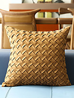 cheap -Cushion Cover Suede Solid color Weave Soft Decorative Square Throw Pillow Cover Cushion Case Pillowcase for Sofa Bedroom 45 x 45 cm (18 x 18 Inch) Superior Quality Mashine Washable