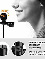 cheap -Portable External 3.5mm Hands-Free Wired Lapel Clip Microphone for Loudspeaker phone computer accessory