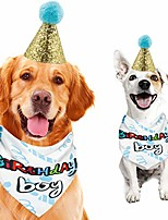 cheap -dog birthday bandana with cute doggie 1st birthday hat party supplies for girl boy