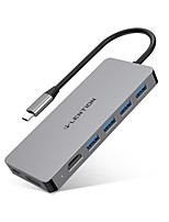 cheap -LENTION USB 3.0 Type C to HDMI 2.0 / USB 3.0 USB Hub 8 Ports High Speed / Support Power Delivery Function / Support Thunderbolt 3