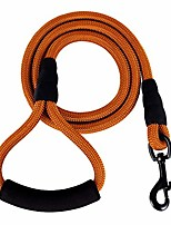 cheap -mountain climbing nylon dog rope leash with soft handle (neon brown)
