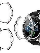 cheap -3 pack cases compatible with samsung galaxy watch 3 41mm, protective bumper soft tpu case for galaxy watch 3(black+silver+mystic gold)(41mm)