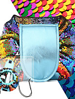 cheap -Toiletry Bag Cosmetic Bag Large Capacity Portable Drawstring Convenient Sequin Nylon For Traveling Everyday Use