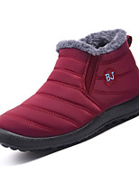 cheap -Women's Boots Snow Boots Flat Heel Round Toe Booties Ankle Boots Casual Daily Synthetics Solid Colored Black Red / Booties / Ankle Boots / Booties / Ankle Boots