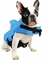 cheap -pet life jacket, dog swimsuit with shark fin, swimming float saver with superior buoyancy and rescue handle for small medium large dogs(blue,l)