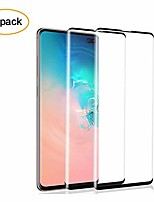 cheap -keklle galaxy s10 plus screen protector,[2 pack][3d curved][anti-scratch][anti-fingerprint][high definition] full coverage tempered glass screen protector suitable for samsung s10 plus