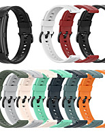 cheap -Watch Band for Huawei B3 / Huawei Band B6 Huawei Sport Band Silicone Wrist Strap