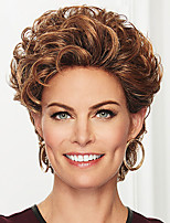 cheap -Synthetic Wig Curly Asymmetrical Wig Short Brown Synthetic Hair Women's Fashionable Design Exquisite Fluffy Brown