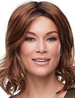 cheap -Synthetic Wig Curly Middle Part Wig Short Dark Brown Brown Synthetic Hair Women's Fashionable Design Exquisite Comfy Brown