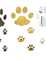 cheap -Animals Footprints / Shapes Wall Stickers Mirror Wall Stickers Decorative Wall Stickers, Acrylic Home Decoration Wall Decal Wall Decoration 20pcs