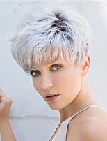 cheap -Synthetic Wig Curly Pixie Cut Wig Short Silver grey Grey Synthetic Hair Women's Fashionable Design Cool Exquisite Silver Gray