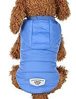 cheap -pet snowsuit windproof faux fur puppy parka coat adjustable dog winter jacket with hood dog warm outwear dog (m, blue 1)