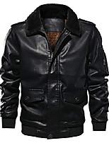 cheap -men sportswear full zip sherpa lined air-force faux leather bomber jacket (large, black)