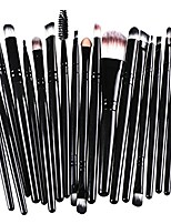 cheap -15pcs/set makeup brush set tools foundation powder eyebrow eyeshadow eyeliner two pitted lip brush cosmetics blending brush tool (black)