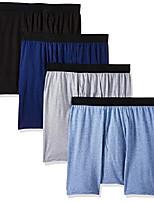 cheap -men's 4-pack comfortblend boxer briefs with freshiq, black/grey, medium