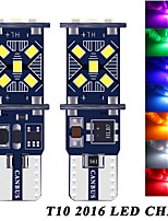 cheap -10PCS/lot W5W T10 LED Canbus Light Bulbs Car Parking Lights WY5W 168 501 2016 Auto Wedge Turn Side Bulbs Car Interior Reading Dome light 12v