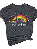 cheap -be kind tshirts women rainbow graphic tees inspirational t shirts casual short sleeve tops