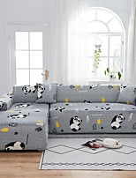 cheap -Panda Print 1-Piece Sofa Cover Couch Cover Furniture Protector Soft Stretch Sofa Slipcover Spandex Jacquard Fabric Super Fit for 1~4 Cushion Couch and L Shape Sofa,Easy to Install