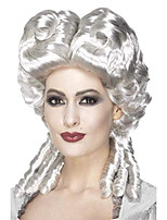 cheap -women's marie antoinette wig, white, one size