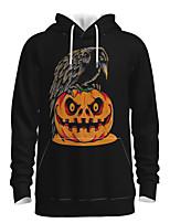 cheap -Daddy and Me Active Owl Graphic 3D Print Print Long Sleeve Regular Hoodie & Sweatshirt Black
