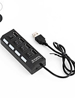cheap -4 Port USB 2.0 Hub On/Off Switches DC Power Adapter Cable for PC Laptop