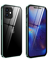 cheap -Case For iPhone 12 iPhone 12 Pro Max iPhone 12 Pro iPhone 12 mini Shockproof Back Cover Solid Colored Tempered Glass Metal