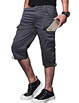 cheap -men's 5xl cargo shorts fishing cargo shorts cargo sweat shorts with multi-pocket purplish grey