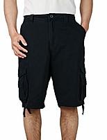 cheap -men's cargo shorts, relaxed fit multi pocket outdoor cotton cargo shorts black