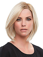 cheap -Synthetic Wig Straight Asymmetrical Wig Short Blonde Synthetic Hair 10 inch Women's Fashionable Design Exquisite Comfy Blonde