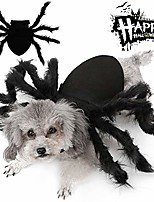 cheap -halloween dogs cats costume furry giant simulation spider pets outfits cosplay dress up costume halloween pets accessories decoration for dogs puppy cats (small)