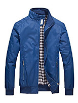 cheap -mens casual jacket outdoor sportswear windbreaker lightweight bomber jackets and coats,blue,medium