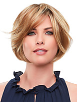 cheap -Synthetic Wig Curly Bob Side Part Lace Front Wig Short Blonde Synthetic Hair 6 inch Women's Fashionable Design Exquisite Comfy Blonde